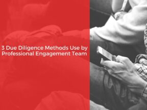 3 Due Diligence Methods Use by Professional Engagement Team