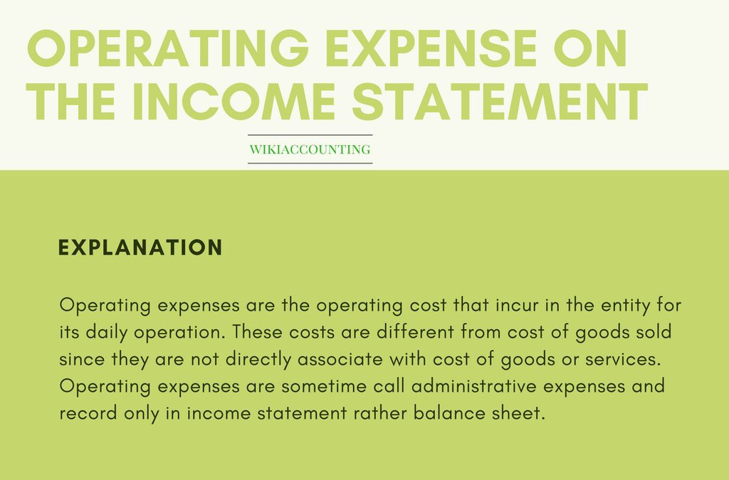 operating expenses  definition  explanation  and example
